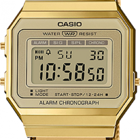 Express - Lay1003 - Casio Vintage with mineral glass and milanese band. LED light and daily alarm